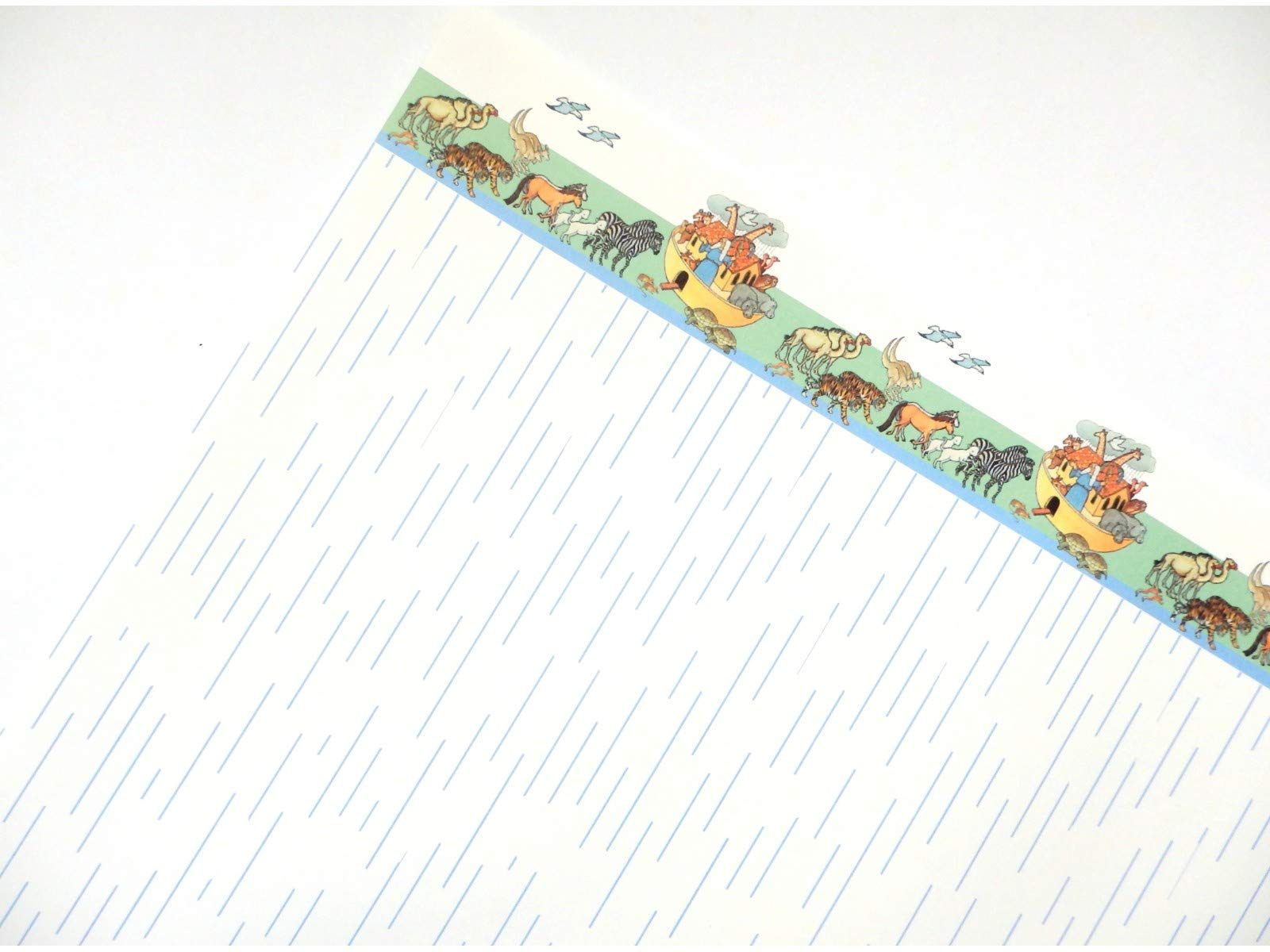 ドールハウスノアの箱舟ミニチュアプリント保育園壁紙青3個セット 通販