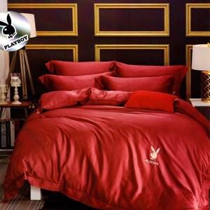 【貝兒寢飾】PLAYBOY 裸睡系列60支素色萊賽爾天絲兩用被床包組(雙人/佩茲利)