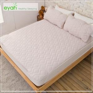 【eyah】台灣製純色加厚舖棉保潔墊平單式單人(含枕墊*1)-紳士灰