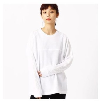 コムサイズム COMME CA ISM 【MIZUNO コラボ】ワッフル ロングTシャツ (ホワイト)