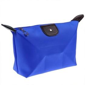 女性の化粧品化粧品袋旅行化粧品袋洗浄袋収納収納ブラケットバッグ化粧品ケース (青)