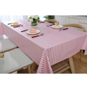 【三房兩廳】日風素雅防水防油桌巾/桌布-140X140cm(小紅格)