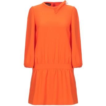 《セール開催中》BOUTIQUE MOSCHINO レディース ミニワンピース&ドレス オレンジ 40 トリアセテート 70% / ポリエステル 30%