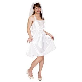 コスプレ衣装/コスチューム 〔ゆるふわ花嫁MAN〕 ベール ワンピース付き 『女装MAN』 〔ハロウィン〕 〔送料無料〕