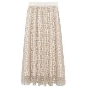 リリーブラウン Lily Brown フラワー刺繍スカート (オフホワイト)