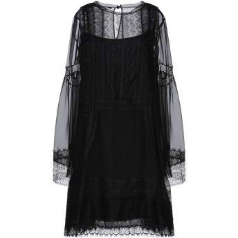《セール開催中》ALBERTA FERRETTI レディース ミニワンピース&ドレス ブラック 40 シルク 100% / ポリエステル / ナイロン / レーヨン / コットン