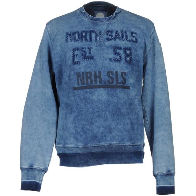 《セール開催中》NORTH SAILS メンズ スウェットシャツ ブルー XXL コットン 100%
