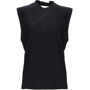 《セール開催中》TELA レディース T シャツ ブラック M コットン 100%