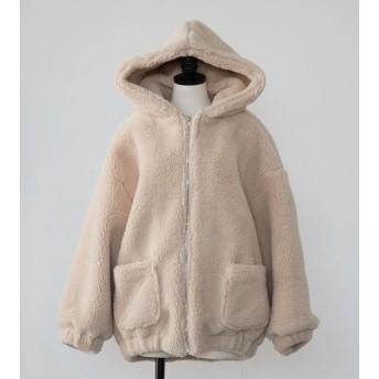 ボア ボアブルゾン レディース ボアジャケット レディース コート レディース 冬 防寒 大きいサイズ ゆったり おしゃれ