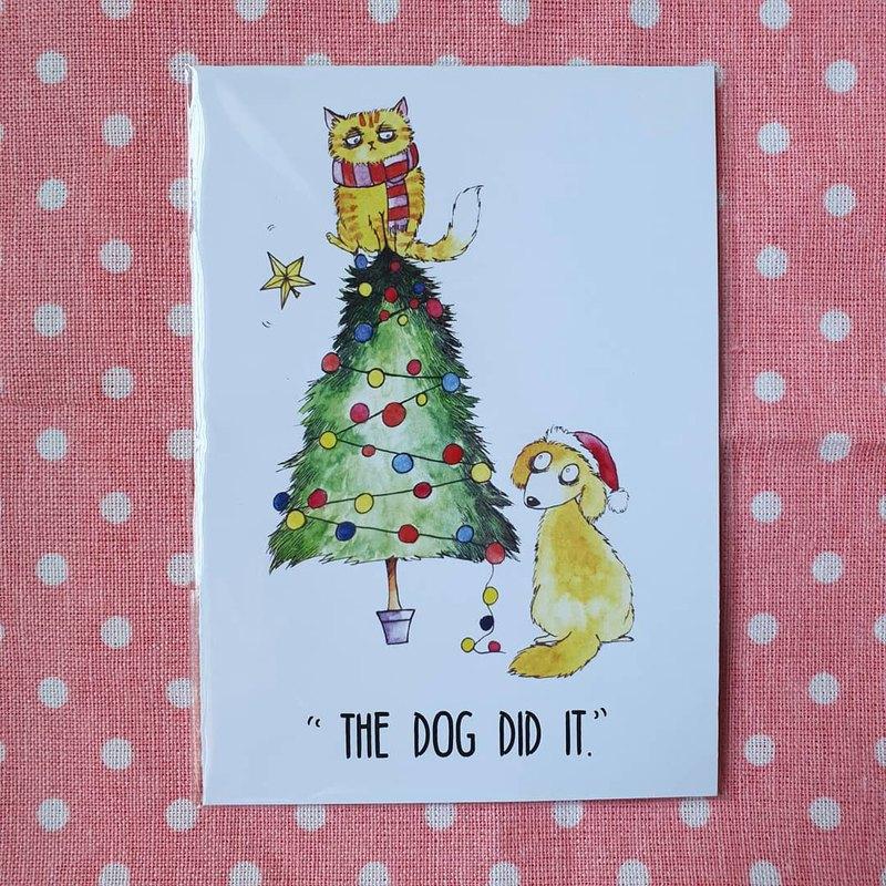 古怪的聖誕節賀卡