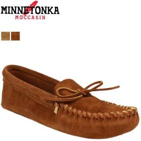 [ミネトンカ] モカシン ルームシューズ LEATHER LACED SOFT SOLE MENS ユニセックス Brown(703) US9(約27.0-27.5cm) (並行輸入品)