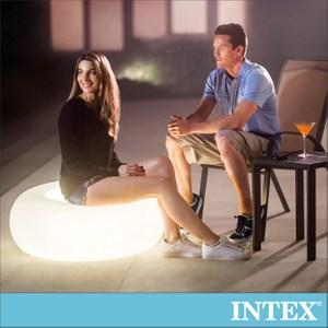 INTEX 氛圍燈座/充氣腳墊-室內戶外二用(68697)