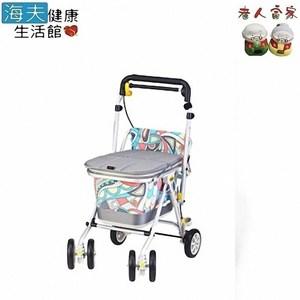 【老人當家 海夫】象印BABY 銀髮族休閒購物車-N型(繽紛灰)