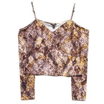 ゲス GUESS HUNTLEY TOP (OCTANE SNAKE PRINT NATURAL)