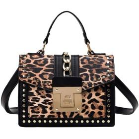 QTMIAO-Bags 女性のファッションメッセンジャーバッグ多目的な小さな正方形の袋に印刷ショルダーバッグ、レディースショルダーバッグ (Color : 02, Size : 21915cm)