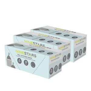 美國NINESTARS 專業收納垃圾袋40L(超值三入組)