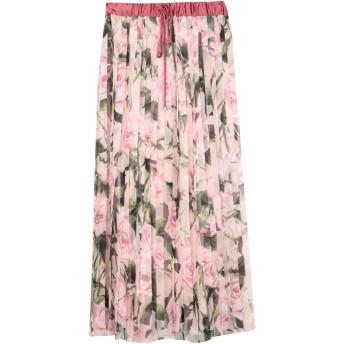 《セール開催中》DOLCE & GABBANA レディース ロングスカート ピンク 42 ポリエステル 90% / シルク 10%