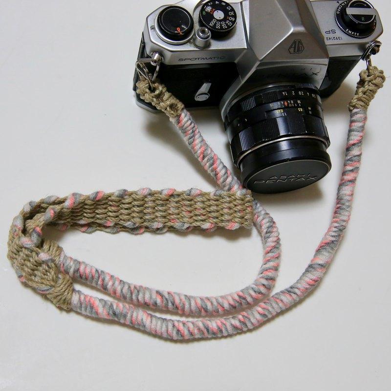 限量編號/運動色紗麻繩大麻相機帶/雙環