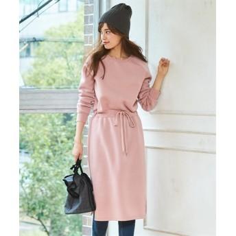 裏起毛ウエスト切替ワンピース (大きいサイズレディース)ワンピース, plus size dress, 衣裙, 連衣裙
