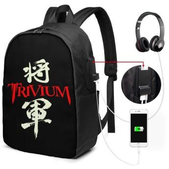 トリヴィアム Trivium 将軍 リュック リュックサック バックパック 17インチ 耐久性 機能性 通勤 通学 USBポート付き 旅行 登山 オシャレ 男女兼用 ブラック