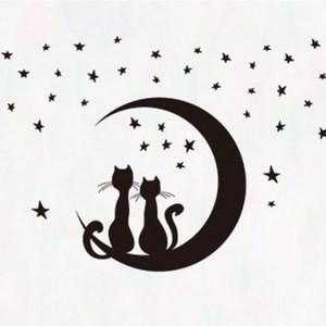 創意無痕壁貼 星空貓咪
