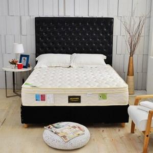 【睡芝寶】三線天絲棉涼感抗菌+高蓬度硬式獨立筒床墊雙人5尺