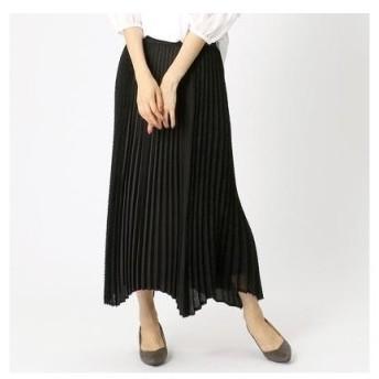 コムサイズム COMME CA ISM イレギュラーヘム プリーツスカート (ブラック)