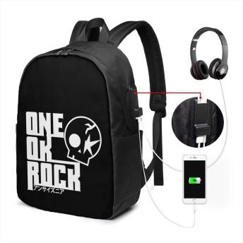 ワンオクロック リュック リュックサック バックパック 17インチ 耐久性 機能性 通勤 通学 USBポート付き 旅行 登山 オシャレ 男女兼用 ブラック