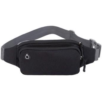 防水屋外スポーツの多機能は、トレーニングを実行している男性と女性のレジ携帯電話バッグメッセンジャーバッグのチェストポケット,黒