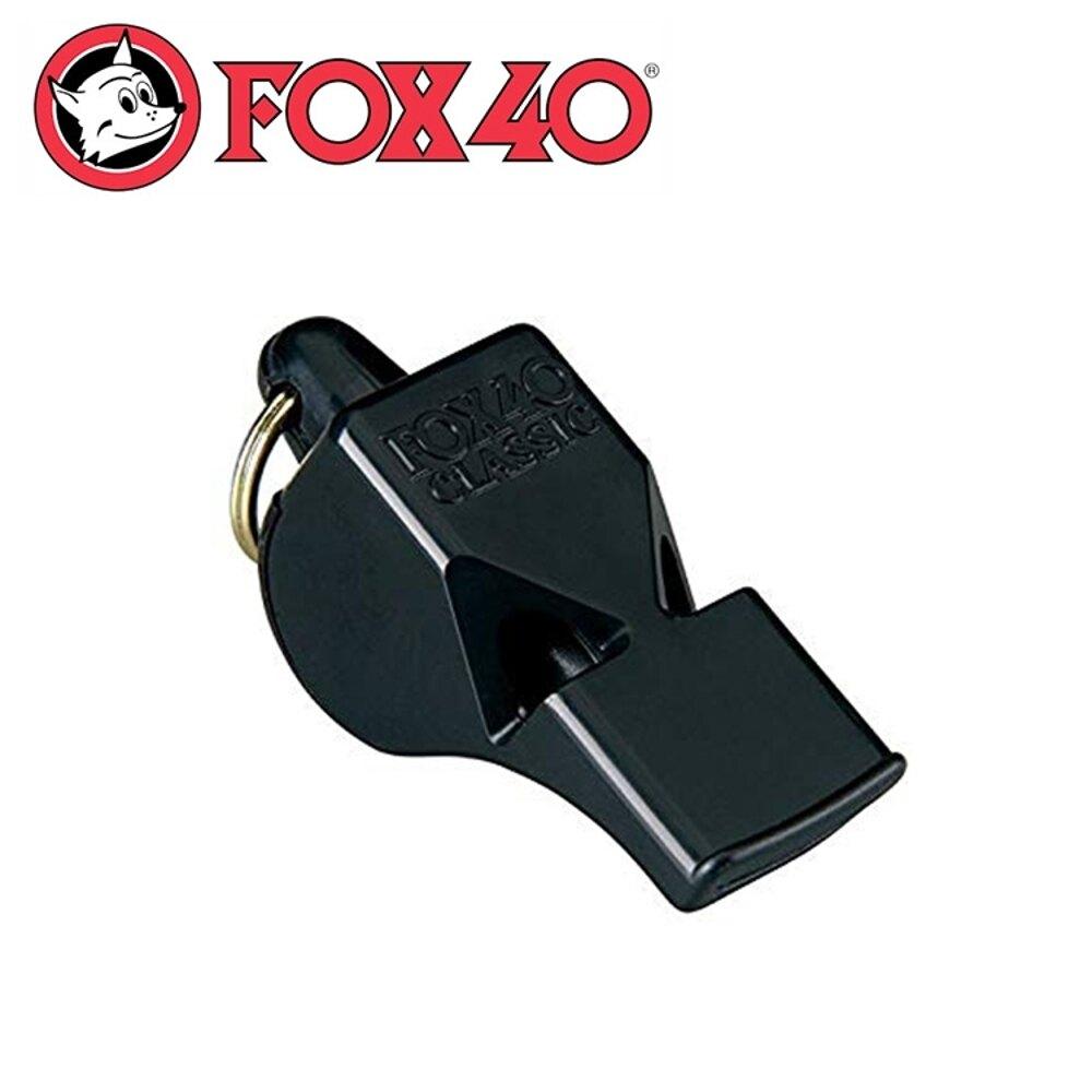 【Fox 40 哨子附分離式繫繩fox《黑》】9903-0008/高音哨/求生哨/訓練哨
