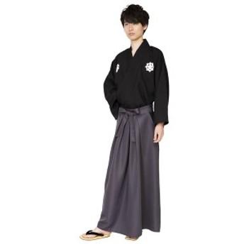 和風 コスプレ衣装/コスチューム 〔侍 着物・袴〕 Men's/身長 ~180cm 簡単着付 『花鳥風月』 〔送料無料〕