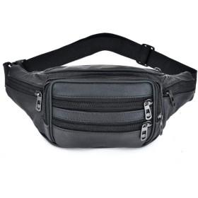 ソフトレザーの携帯電話は、大容量のスポーツバッグの胸ピュアカラーメンズショルダーバッグポケット,段落5