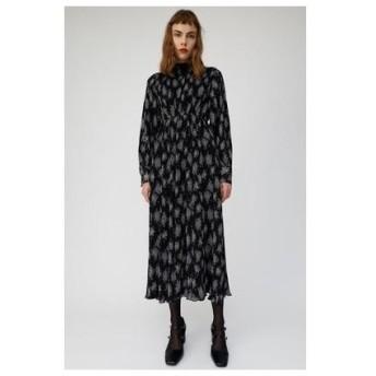 マウジー moussy FLORAL PLEATS DRESS (ブラック)