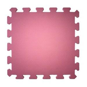 素色安全地墊30x30x1cm 6入-蜜桃粉
