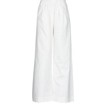 《セール開催中》PDR PHISIQUE DU ROLE レディース パンツ ホワイト 0 コットン 97% / ポリウレタン 3%