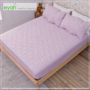 【eyah】台灣製純色加厚舖棉保潔墊床包式單人-魅力紫