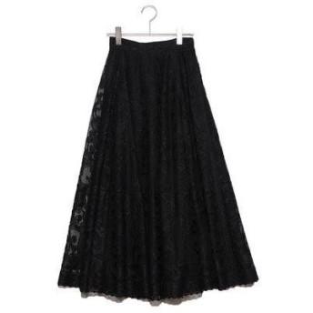 フレイアイディー FRAY I.D パネルジャガードスカート (ブラック)