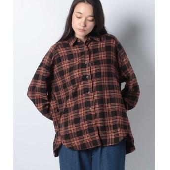 【イーハイフンワールドギャラリー】オーバーサイズネルチェックシャツ