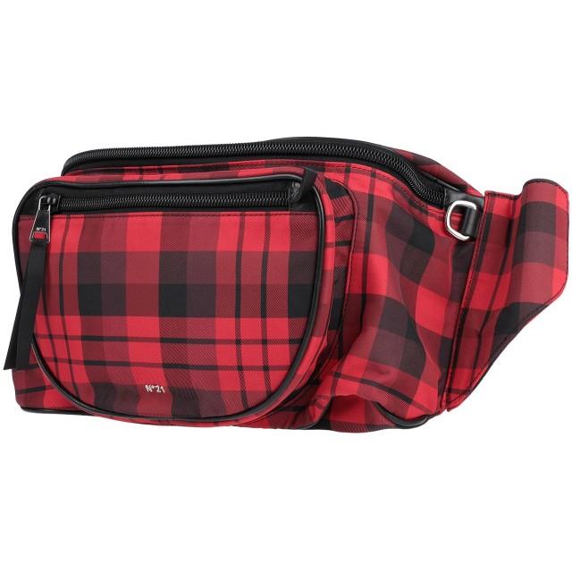 《セール開催中》N°21 レディース バックパック&ヒップバッグ レッド 紡績繊維 / 革