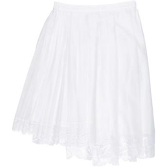 《セール開催中》N°21 レディース ひざ丈スカート ホワイト 38 コットン 100%