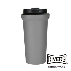 日本 Rivers SOLID雙層隨行杯390ml-鉛灰