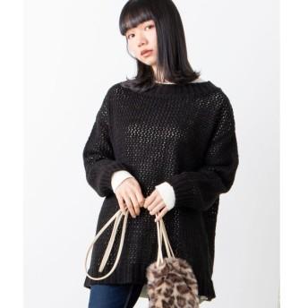 【ウィゴー】WEGO/モヘアタッチメッシュセーター