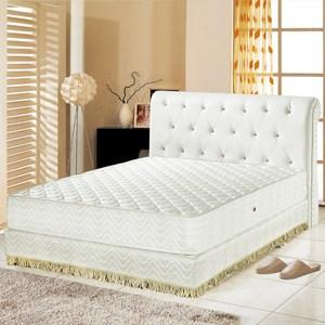 【睡芝寶】矽膠抗菌3M防潑水護邊獨立筒床墊雙人5尺