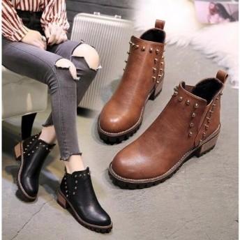 サイドゴアブーツ ウエスタンブーツ ワークブーツ 厚底 防寒靴 ショートブーツ 革靴 レディースシューズ