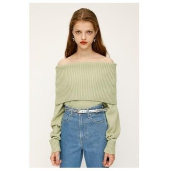 スライ SLY OFF SHOULDER MG TOPS (ミント)