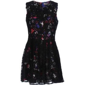 《セール開催中》PICCIONE. PICCIONE レディース ミニワンピース&ドレス ブラック 42 ポリエステル 100%