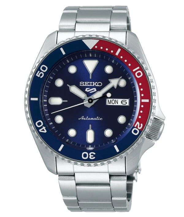 Seiko 精工5號 Sports 系列 4R36-07G0R(SRPD53K1) 運動時尚潮流機械腕錶 / 藍x紅 42.5mm特殊商品不配合店家優惠券