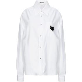 《セール開催中》MIU MIU レディース シャツ ホワイト 38 コットン 100% / 金属 / ガラス / 合成繊維