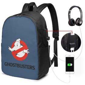 ゴーストバスターズ Ghostbusters リュック リュックサック バックパック 17インチ 耐久性 機能性 通勤 通学 USBポート付き 旅行 登山 オシャレ 男女兼用 ブラック