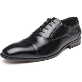 [フォクスセンス] ビジネスシューズ 革靴 軽量・撥水 本革 ストレートチップ 紳士靴 内羽根 メンズ ブラック 28.0cm 636-01